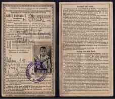 CHEMINS DE FER D'ALSACE - MULHOUSE / 1920 CARTE DE REDUCTION DE FAMILLES NOMBREUSES (ref 5172) - Titres De Transport