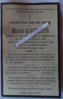 Méteren - Le Cardonnois : Iamge Mortuaire Soldat QUAGHEBEUR Maurice Jh Cornil (guerre 1914/1918) 43ème R.I. - Décès