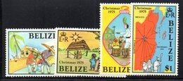 CI1211 - BELIZE 1975 , Serie Yvert N. 358/361  *** MNH  (2380A) Natale Christmas - Natale