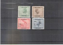 Ruanda-Urundi 79/80 + 90/91 - Type Vloors - X/MH - 1924-44: Neufs