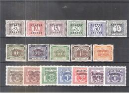 Ruanda-Urundi TX9/26 - 3 Séries Complètes - XX/MNH - Ruanda-Urundi