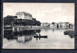 """72 - Sablé - Le Chateau Et La Sarthe + Cachet """" Hopital Complémentaire N°40 """" - Sable Sur Sarthe"""