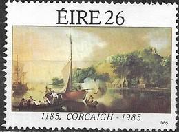 "IRELAND 1985 Anniversaries - 26p. - ""A Landscape At Tivoli, Cork, With Boats"" (Nathaniel Grogan) 800th Anniv Of Cork MNG - 1949-... République D'Irlande"