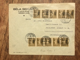 SWITZERLAND 1930 Cover Luzern To Frankfurt `Bela Sekula` - Switzerland