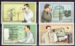 Thailand 1997- The King, Man Of Telecom - Michel 1774-77 Somchai 1712-15  MNH, Neuf, Postfrisch - Thailand