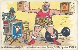 B Margarine Astra, Signée Raoul Vion ( Haltères ) - Publicité