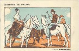 TB Compagnie Française De Navigation à Vapeur ( Cyp. Fabre, Paquebot ) - Costumes De France, Provence, Gardian, Taureaux - Publicité