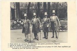 B Lotion O Cap, Eau Capillaire (petit Dessin De Cappiello Au Verso) - Publicité