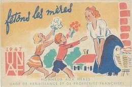 TB Fête Des Mères 1947, UNAF, Honneur Aux Mères - Publicité