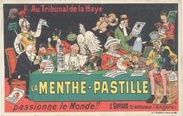 B La Menthe-Pastille, Signée Ogé, E. Giffard, Distillateur, Angers - Publicité