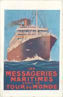 TB Les Messageries Maritimes Font Le Tour Du Monde - Publicité