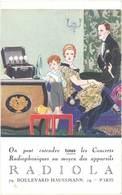 LD Appareil Radiophonique Radiola, Bld Hausmann, Paris - Publicité