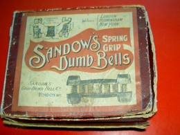 Sandow's Dumb Bells  Grip Dump-Bell Co London Fin XIXe  For Girl (!) Culture Physique - Sports