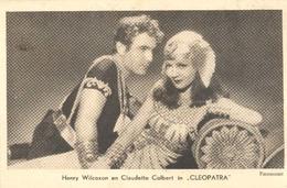 """Henry Wilcoxon En Claudette Colbert In """"Cleopatra"""" ( Paramount Pictures) Machinestempel Amsterdam (2 X Scan) - Artiesten"""