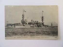 """CPA N°2061 - Marine Nationale - Navire """"CHARLES MARTEL"""" Cuirassé D'Escadre - Carte Non-circulée - Krieg"""