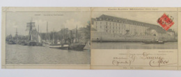 Lorient - Carte-lettre Militaire Double - Ecole Des Apprentis Mécaniciens - Multivue - Carte Animée Circulée En 1912 - Casernes