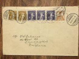SWITZERLAND 1911 Cover St. Gallen To Lancaster England With `Internationale Hygiene Austellung Dresden` Vignette To Rear - Switzerland