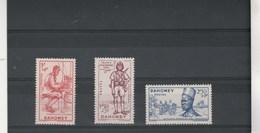 Dahomey 1941 Yvert  Série 142 à 144 ** Neufs Sans Charnière - Défense De L'Empire - Dahomey (1899-1944)