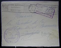 Algérie Constantine 1955 Cachet Intendance Militaire R. Castel - Algérie (1924-1962)