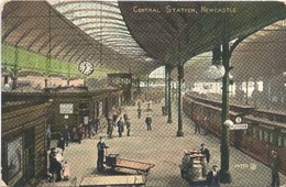 Newcastle, Central Station  (Railway) (Een Raster Op De Kaart Is Veroorzaakt Door Het Scannen;de Afbeelding Is Helder) - Zonder Classificatie