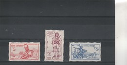 Côte D' Ivoire 1941 Yvert  Série 162 à 164 ** Neufs Sans Charnière - Défense De L'Empire - Neufs