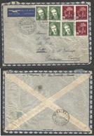 Switzerland - XX. 1946 (20 Dec) Neuvevillle - French Cameroon, M'Balmayo. Air Multifkd Envelope. Better Destination. - Switzerland