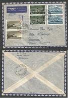 Switzerland - XX. 1947 (20 Sept) Chaux De Fonds - Camerun, M. Balmayo (30 Sept). Air Multifkd Env + Dest. VF. - Switzerland