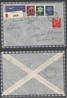 Switzerland - XX. 1947 (22 Jan) Schaffhausen - Africa, Fr. Camerun, MiBalmayo (4 Feb). Registered Air Multifkd Envelope. - Non Classés