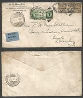 USA Airmails. 1931 (10 Sept) Philadelphia - Colombia, Bogota (20 Sept) Air Fkd Envelope, 35c Rate. Via Barranquilla (19 - Unclassified