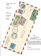 USA Airmails. 1930 (14 July) Atlanta, GA - Colombia, Bogota (18 July). Via Barranquilla (25 July). 5c Blue US Air Statio - Unclassified