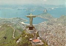 Rio De Janeiro (Brasil) Vista Aerea, Cristo Redentor (Parque Nacional Da Tijuca), Aerial View, Vue Aerienne - Rio De Janeiro