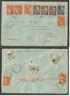 HAITI. 1923 (1 Dec) Port Prince - USA, Galveztown, Tx (10 Dec) Registered Air Multifkd Envelope. Includes High Values. O - Haiti