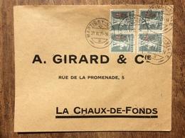 SWITZERLAND 1921 Cover Martigny To La Chaux De Fonds - Switzerland