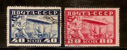 (Fb).URSS.P.Aerea.1930.Volo Dirigibile Graf Zeppelin.2 Val Usati.Dent. 10 1/2 (4-15) - 1923-1991 URSS