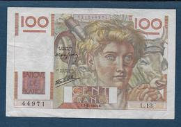 100 F  Jeune Paysan  Du  7 - 11 - 1945 - 1871-1952 Gedurende De XXste In Omloop