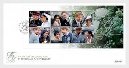 Jersey - Postfris / MNH - FDC Sheet 1 Jaar Koninklijk Huwelijk 2019 - Jersey