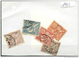 France  Années Completes (o) 1902 (5 Timbres) - ....-1939