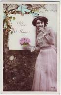 FANTAISIES . JOLIE FEMME EN TOILETTE . CHAPEAU . ROBE . VIVE MARIE . IRIS - Firstnames
