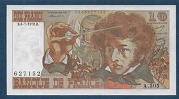 10 F  Berlioz  Du  6 - 7 - 1978 - 1962-1997 ''Francs''