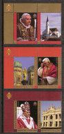 (Fb).Vaticano. 2007. Nuovo.MNH - 80º Genetliaco Di Papa Benedetto XVI - Serie Completa 3 Val+appendici (401-16) - Vatican