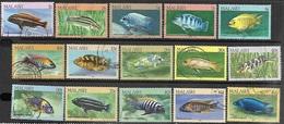 Malawi  1984   Sc#427-41  Fish Set Of 15  Used   2016 Scott Value $32.60 - Malawi (1964-...)