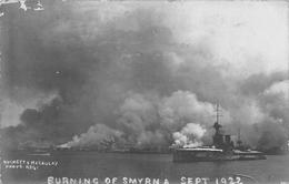 Burning Of Smyrna Izmir TURKEY Burnett & Mc Caulay Photo Postcard - Turkije