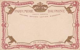 PARIS - (75) -  CPA  PUBLICITAIRE GAUFRÉE - DORURES OR - ED.PINAUD - 18 PLACE VENDÔME. - Advertising