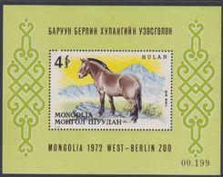 Mongolie BF N° 28 XX Le Cheval Sauvage Przewalski, Le Bloc  Sans Charnière, TB - Mongolia