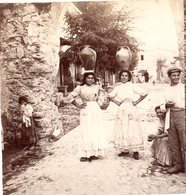 AK-1702/ Catania Wasserholende Mädchen Italien  Stereofoto V Alois Beer ~ 1900 - Stereoscopic