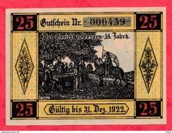 Allemagne 1 Notgeld De 25 Pfenning Stadt Bergen An Der Dumme Dans L 'état  N °3823 - Collections
