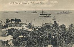 St Kitts U.S. Fleet At Basseterre Harbour . P. Used Stamped  1916  Edit Moure Losada - Saint-Christophe-et-Niévès