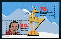 ÖSTERREICH Mi. Nr. Block 84 Skisport - 80. Geburtstag Von Toni Sailer; - Used - Blocks & Kleinbögen