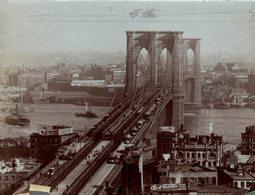 BROOKLYN BRIDGE PONT DE  NEW YORK CITY USA   RAILWAY CHEMIN DE FER 21* 16 CM Fonds Victor FORBIN 1864-1947 - Plaatsen