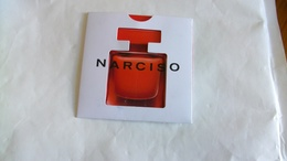 Carte Parfumée Narciso Rodriguez Nouvelle Eau De Parfum Rouge - Modernes (à Partir De 1961)